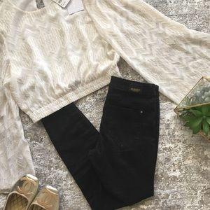 Zara Black Skinny Jeans Z1975 Collection Sz 4